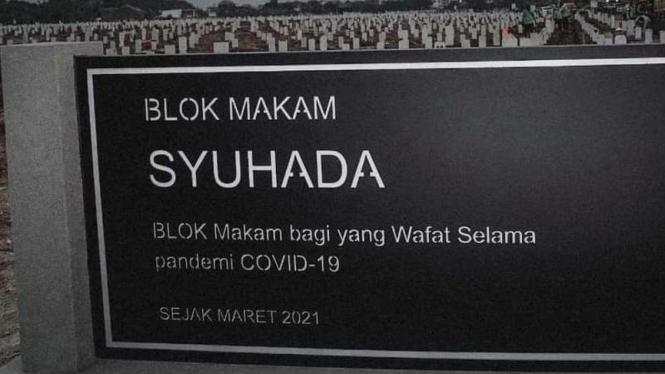 Blok Makam Syuhada di TPU Rorotan Jakarta Utara