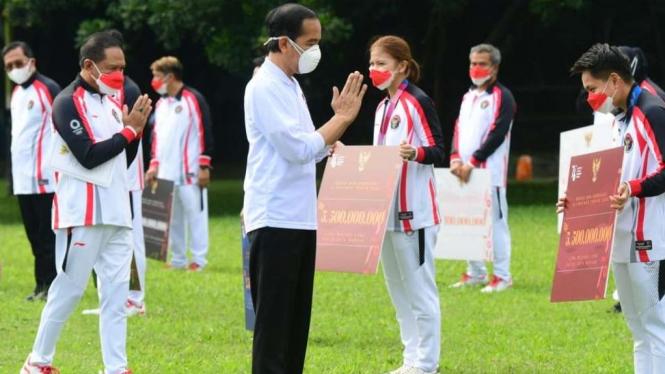 Presiden Jokowi Terima Para Atlet Olimpiade Tokyo 2020, Istana Bogor