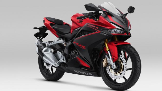 Motor Honda CBR250RR warna Bravery Red Black.