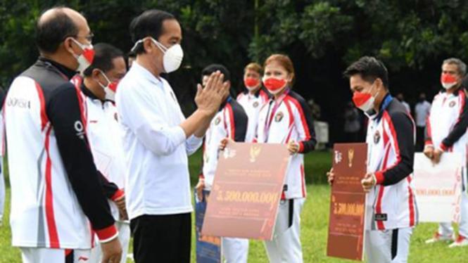 Presiden Jokowi berikan bonus untuk atlet yang tampil di Olimpiade Tokyo