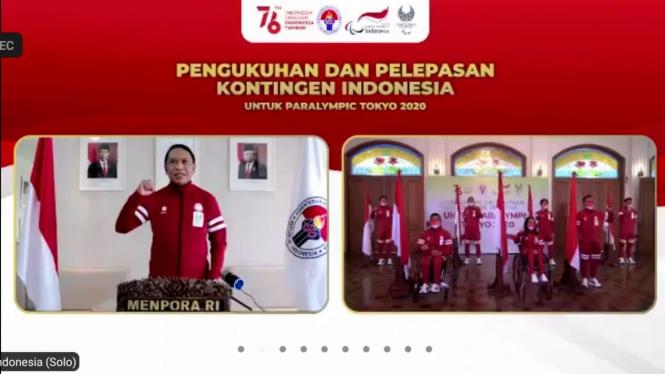 Menpora Zainudin Amali melepas kontingen Indonesia di Paralimpiade Tokyo