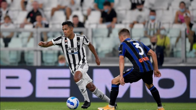 Pertandingan uji coba antara Juventus vs Atalanta.