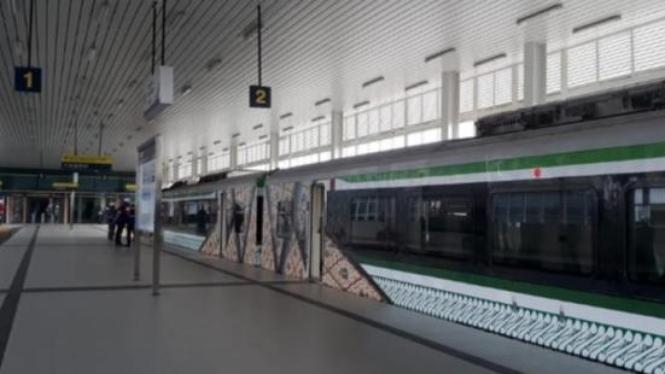 Beginilah peron stasiun YIA (Sumber Foto : Angkasa Pura I)