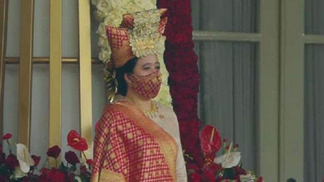 Ketua DPR RI Puan Maharani saat HUT RI ke 76 di Istana Negara