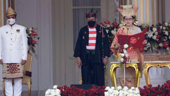 Ketua DPR RI Puan Maharani Berbaju Adat Minang di HUT RI di Istana Merdeka