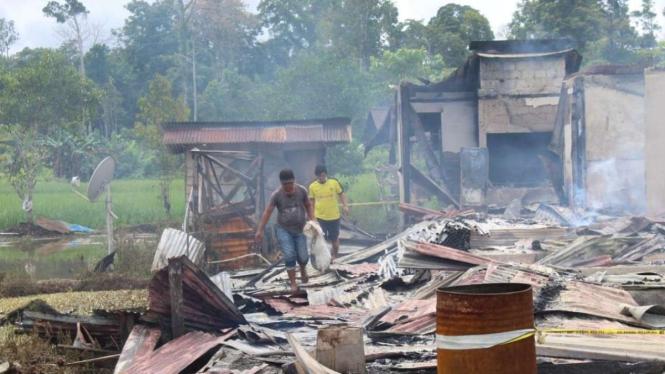 Rumah warga di Yahukimo, Papua dibakar pelaku diduga dari KKB.