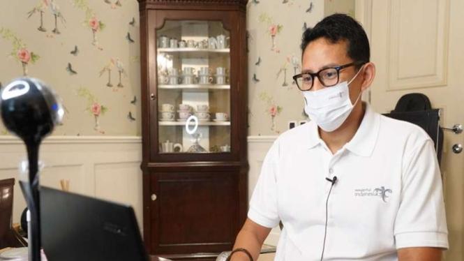 Menteri Pariwisata dan Ekonomi Kreatif, Sandiaga Uno