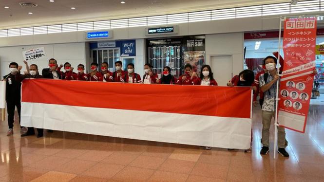 Kontingen Indonesia untuk Paralimpiade Tokyo kloter ke-2 dan 3 saat tiba di Jepang