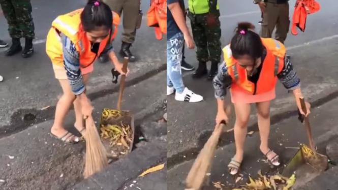 Viiral Satgas Covid Rekam Wanita Jalani Hukuman  (Instagram/kamerapengawas)