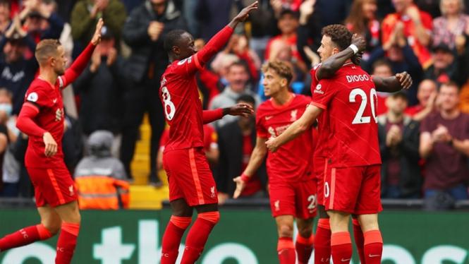 Selebrasi pemain Liverpool