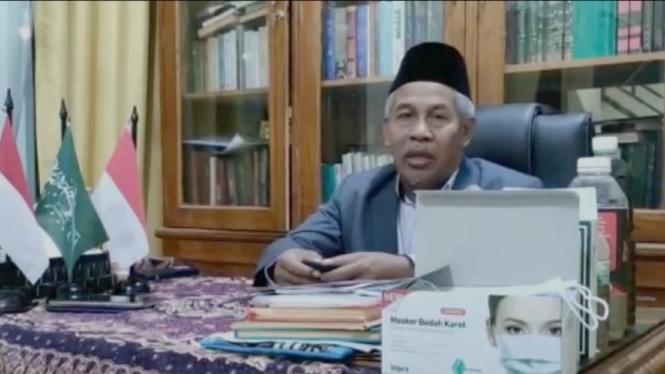 Ketua PWNU Jatim KH Marzuki Mustamar.