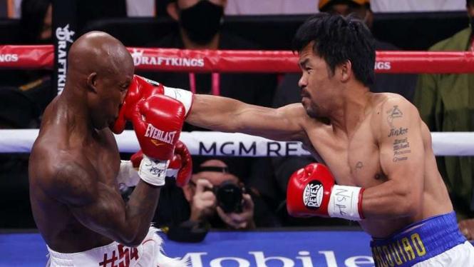 Pertarungan antara Manny Pacquiao versus Yordenis Ugas