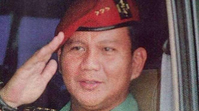 VIVA Militer: Prabowo Subianto Djojohadikusumo saat berpangkat Letnan Kolonel