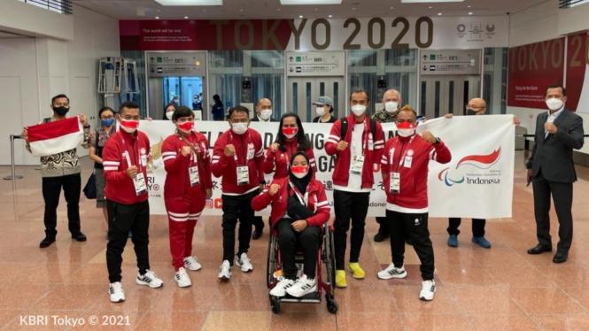 Kloter terakhir kontingen Indonesia untuk Paralimpiade 2020 tiba di Tokyo
