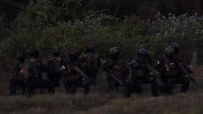 VIVA Militer: Pasukan gabungan Taifib Marinir dan Kopaska TNI Angkatan Laut