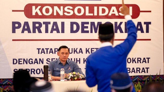 Ketua Umum Partai Demokrat Agus Harimurti Yudhoyono atau AHY.