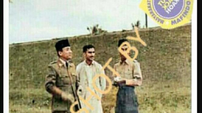 Foto hoax pria yang bersama Soekarno disebut ayah Habib rizieq