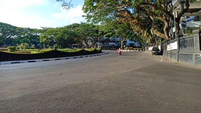 Suasana Kota Malang di masa PPKM Level 4.