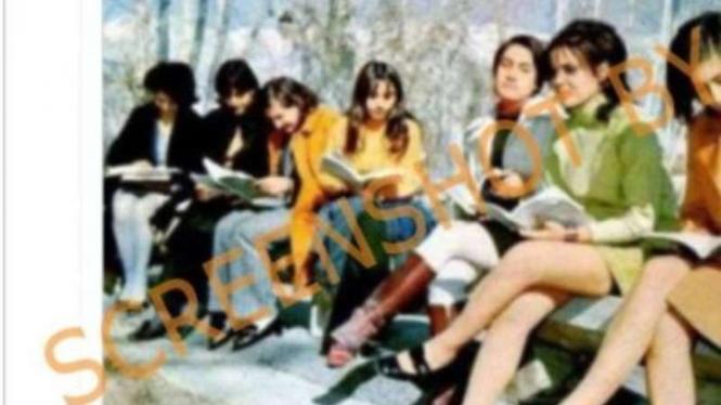 Cek fakta foto para perempuan di Afghanistan pakai rok mini, hoax atau fakta?