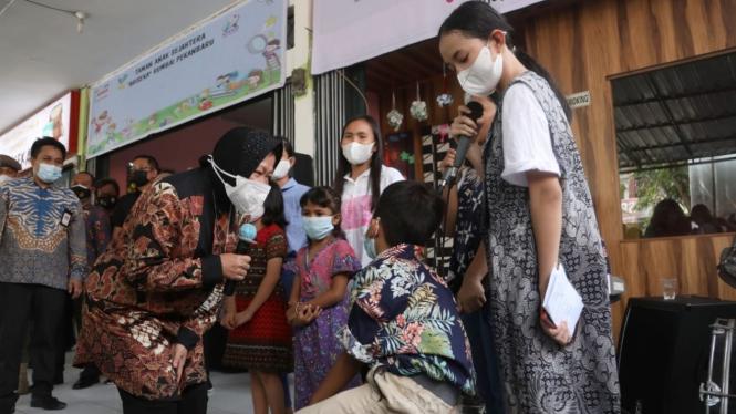 Mensos Risma saat meresmikan SKA, Pekanbaru (31/08)
