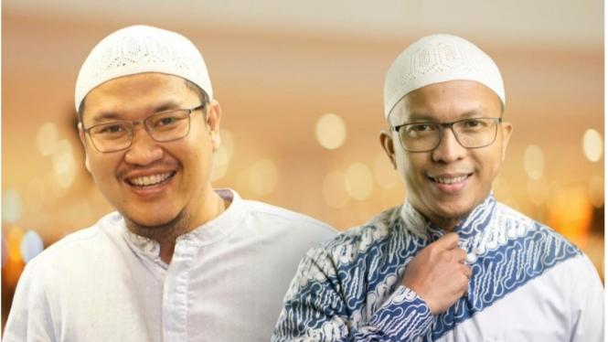 Ustad Fatih Karim - CEO Cinta Quran Group (batik biru), Ustad Oemar Mitha (koko putih)