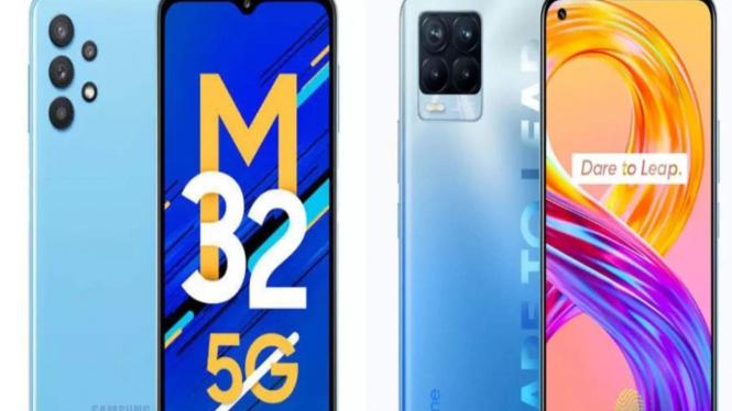 Samsung Galaxy M32 5G vs Realme 8 Pro.
