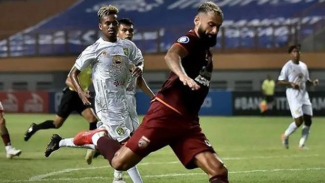 Laga Liga 1 antara Borneo FC kontra Persebaya Surabaya