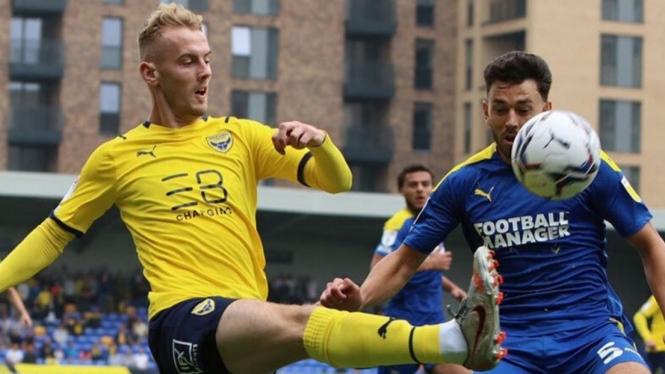 Pertandingan lanjutan League One 2021/22 antara Wimbeldon vs Oxford United.