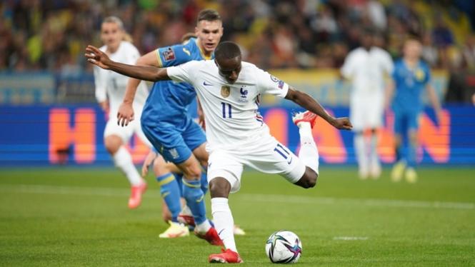 Pertandingan Timnas Prancis melawan Ukraina