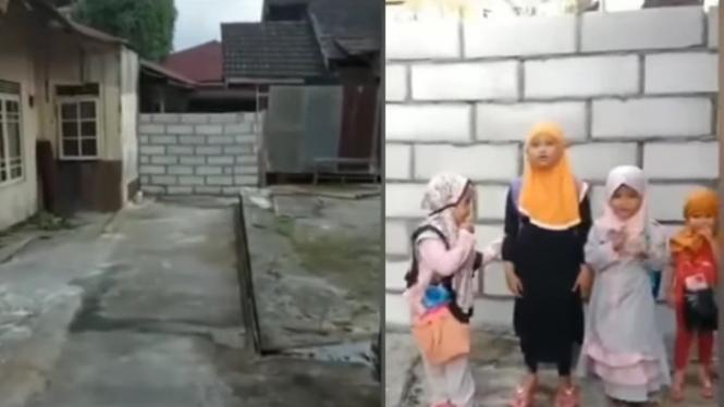 Viral Akses Jalan ke Rumah Suhartini Ditembok Tetangganya (Instagram/infosigap)