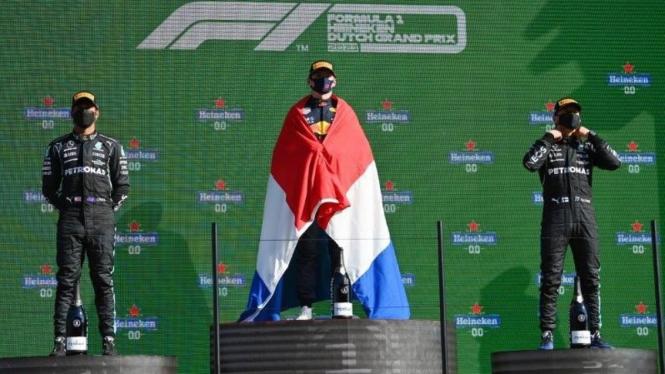 Pembalap Red Bull Racing, Max Verstappen juara di F1 GP Belanda