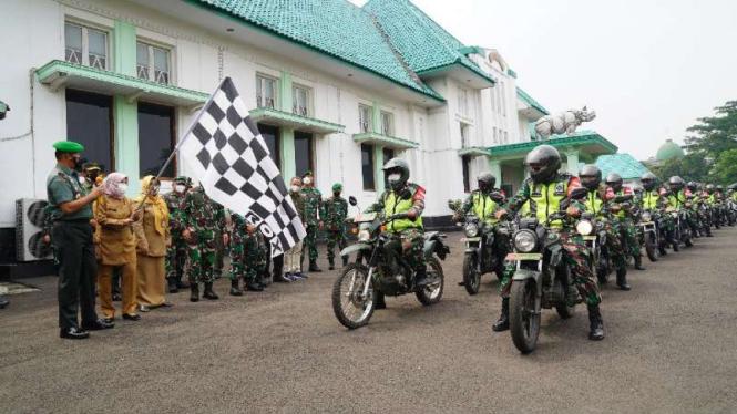 VIVA Militer: Danrem 061/Sk Launching Go Vaksin Mobile sasar pelajar di Bogor