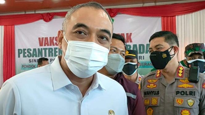 Bupati Tangerang Ahmed Zaki Iskandar, Selasa, 7 September 2021.