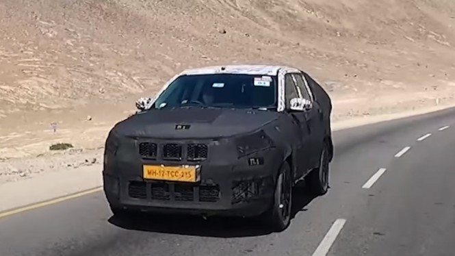 Jeep Commander menjalani pengujian ekstrem di India.