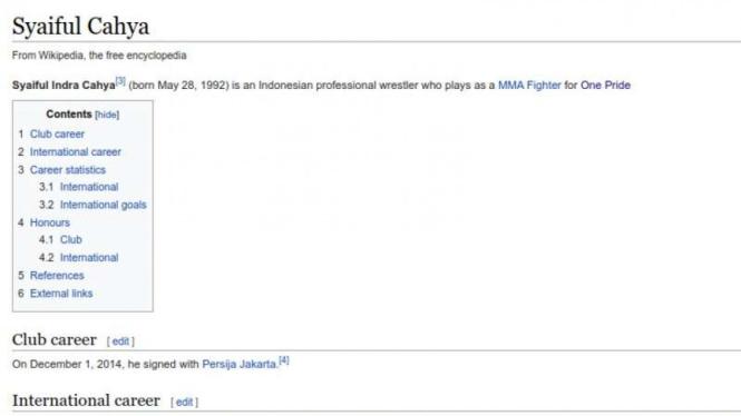 Profil Syaiful Indra Cahya di Wikipedia.