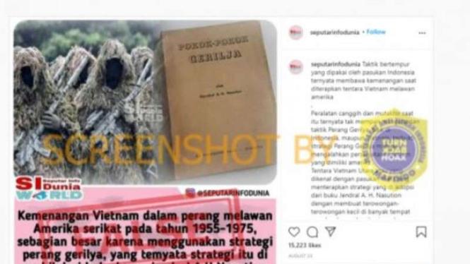 Hoax strategi perang Vietnam pakai buku AH Nasution