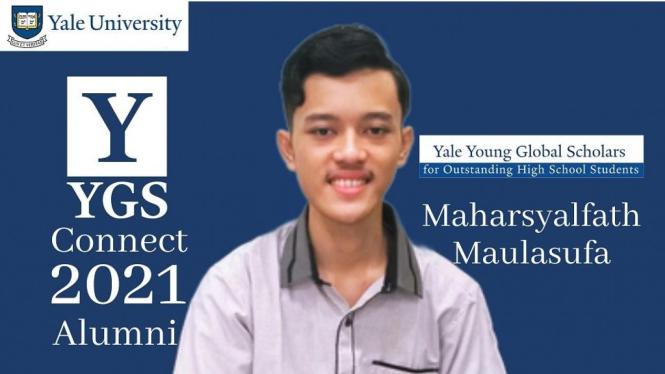 Maharsyalfath (18) penerima beasiswa $3,500 Yale Young Global Scholars (YYGS) Connect 2021, Yale University, Amerika Serikat. (dok. pribadi)