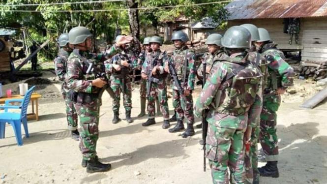 Ilustrasi keberadaan tentara di Papua