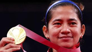 Leani Ratri Oktila merebut medali emas Paralimpiade Tokyo 2020.
