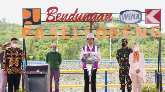VIVA Militer: Panglima TNI dampingi Presiden Jokowi resmikan Bendungan di Sulsel