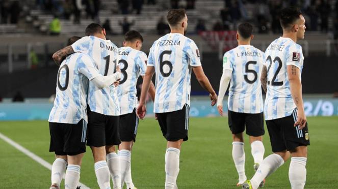 Selebrasi Timnas Argentina