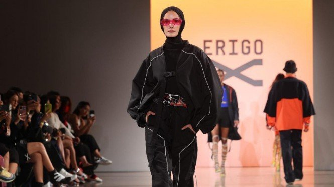 Brand lokal Erigo di New York Fashion Week (NYFW) 2022.