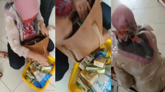 Viral Emak-emak Mencuri di Minimarket (Instagram/lambeturah_official)