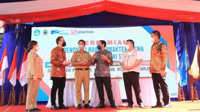 Astra meresmikan revitalisasi gedung SMKN 2,5,6 Surakarta (13/9)