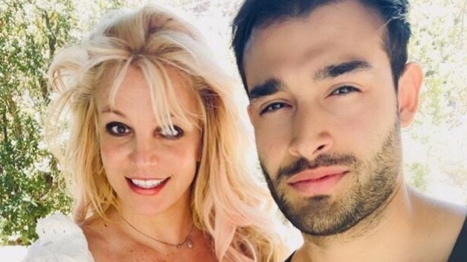 Britney Spears dan Sam Asghari.
