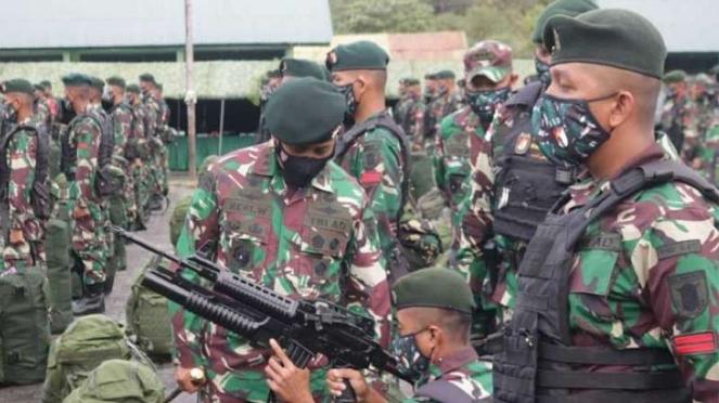 VIVA Militer: Satgas Pamtas Penyangga Mobile Yonif Raider 613/Raja Alam