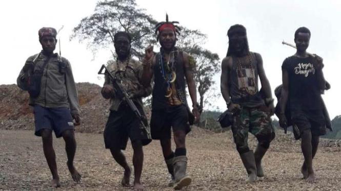 VIVA Militer: Anggota kelompok teroris Organisasi Papua Merdeka (OPM)