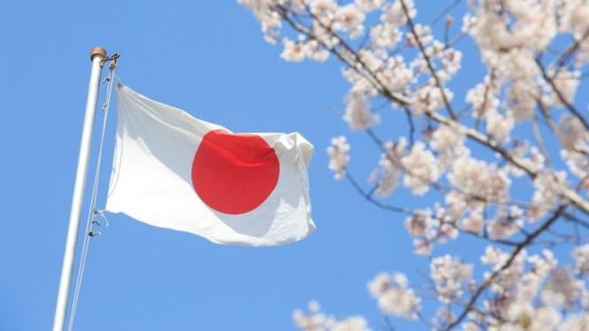 Bendera Jepang.