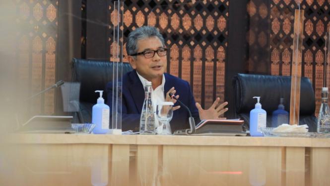 Direktur Utama BRI Sunarso pada acara dalam CEO Talk (03/09).