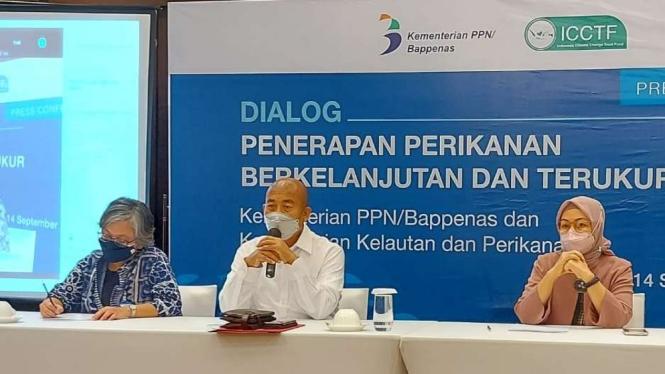 Dialog perikanan berkelanjutan dan terukur oleh Bappenas.